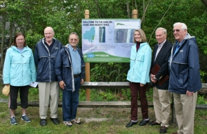 Mayor Marty Pagliughi and members of the Avalon Environmental Commission at the new Dune and Beach Path Trail