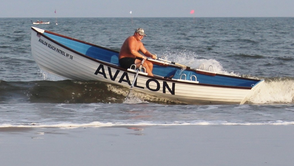 Avalon Beach Patrol hits the water in the boat