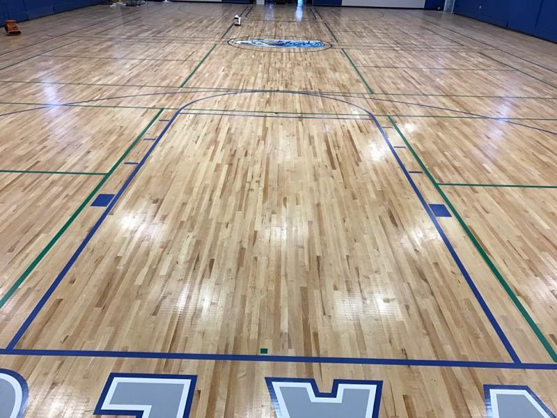 New floor at avalon community hall building re opens for Chuck s hardwood flooring