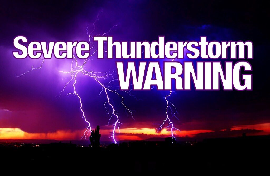 Friday, August 18th, 7:56pm: Severe Thunderstorm Warning