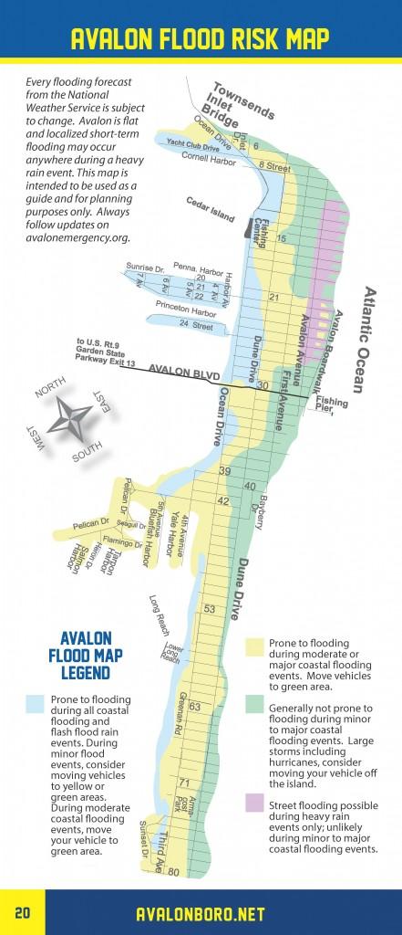 Avalon's Flood Risk Map