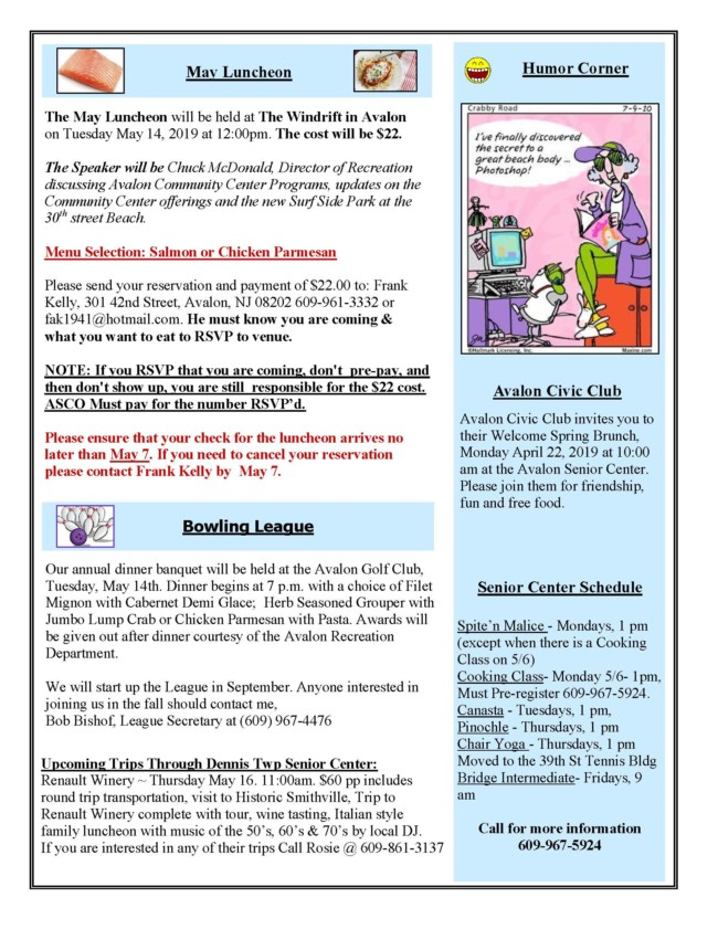May Newsletter Page 2