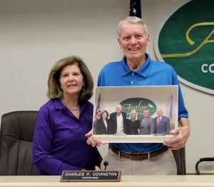 Councilwoman Dr. Nancy Hudanich with Councilman Covington