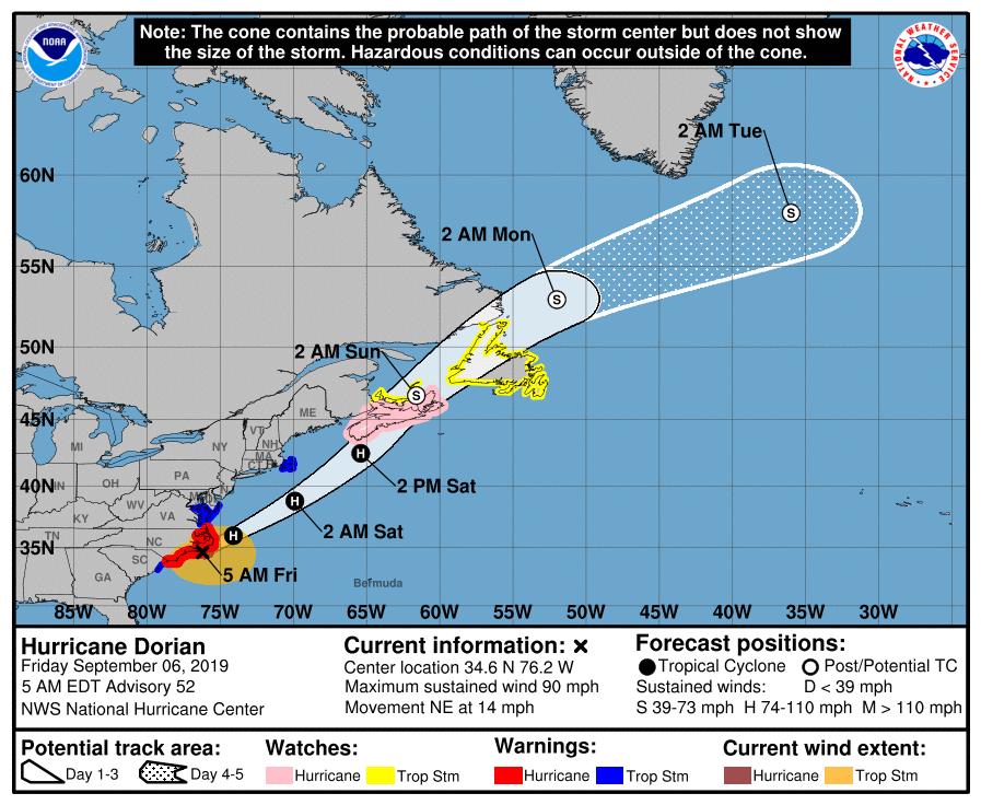 Friday, September 6th: Coastal Flood Advisory, Rough Surf/Rip Currents in Forecast