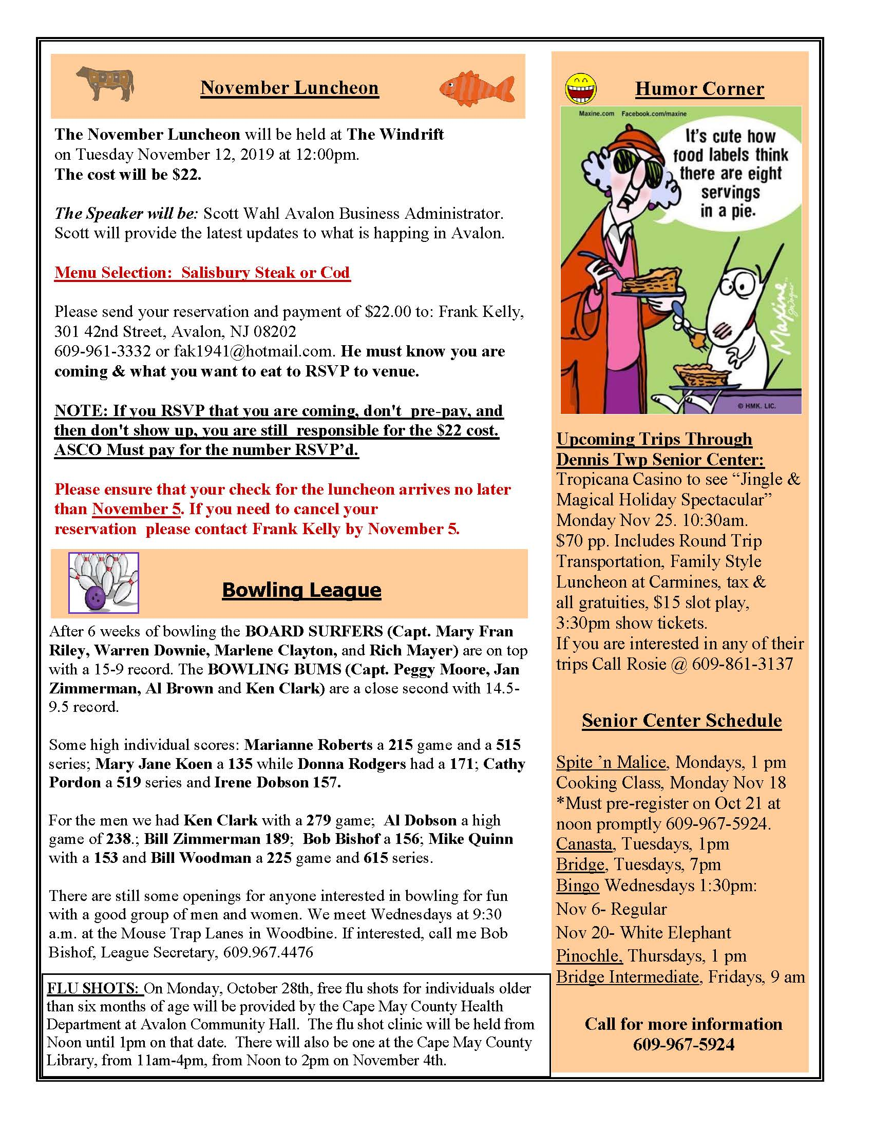 Two page ASCO newsletter
