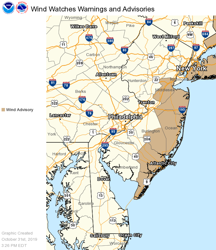 Wind Advisory Graphic